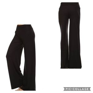 Pants - ❤HP❤1X - 3X! Black Wide Leg Palazzo Pants!
